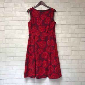 Rose Flared Dress
